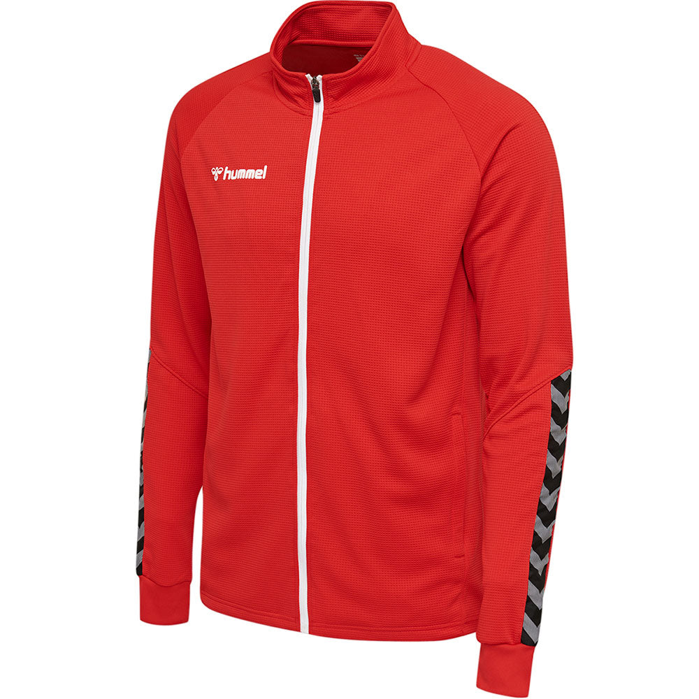 Hummel HMLAuthentic Poly Zip Jacket - True Red