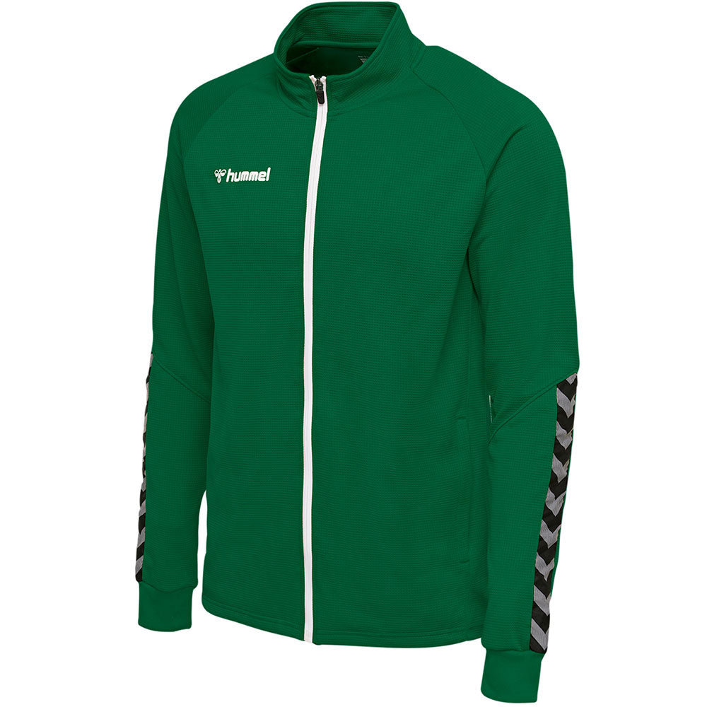 Hummel HMLAuthentic Poly Zip Jacket - Evergreen