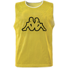 Yellow Kappa Nipola Training Bib with omini printed on the chest