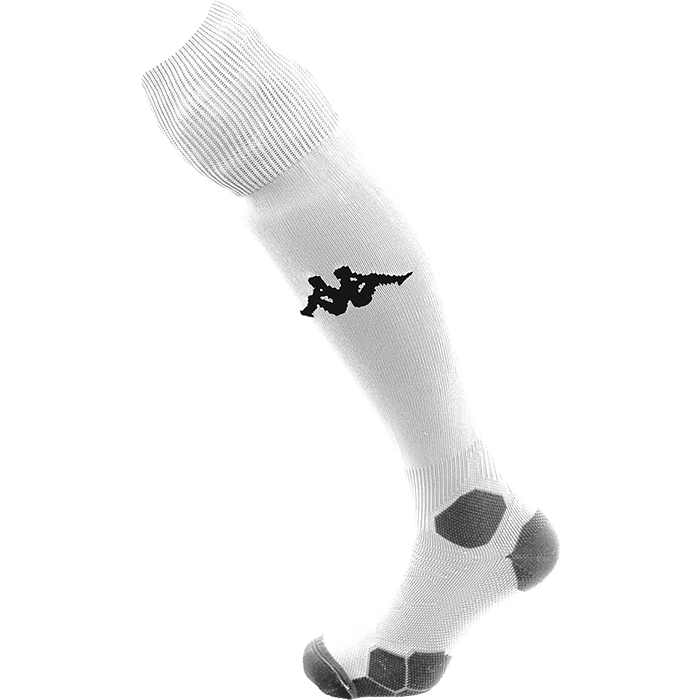 Kappa Aversa high match sock in white with Omini on the shin