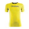 Yellow Fluo Kappa Teramo base layer short sleeve shirt with blue Kappa printed text logo on the chest