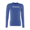 Kappa Teramo base layer long sleeve shirt in blue nautic (royal blue) with white Kappa printed text logo on the chest