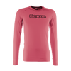 Kappa Teramo base layer long sleeve shirt in fuchsia with black Kappa printed text logo on the chest