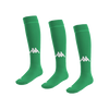 Kappa Penao high match sock in green with white knitted Omini on the shin