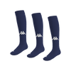 Kappa Penao high match sock in blue marine (navy) with white knitted Omini on the shin