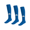 Kappa Penao high match sock in blue nautic (royal) with white knitted Omini on the shin