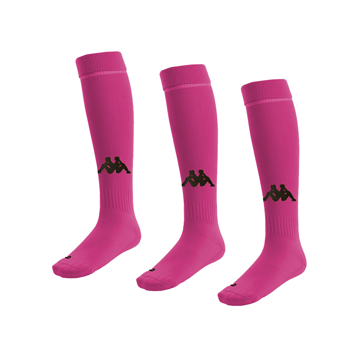 Kappa Penao high match sock in fuschia with black knitted Omini on the shin