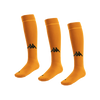 Kappa Penao high match sock in orange with black knitted Omini on the shin