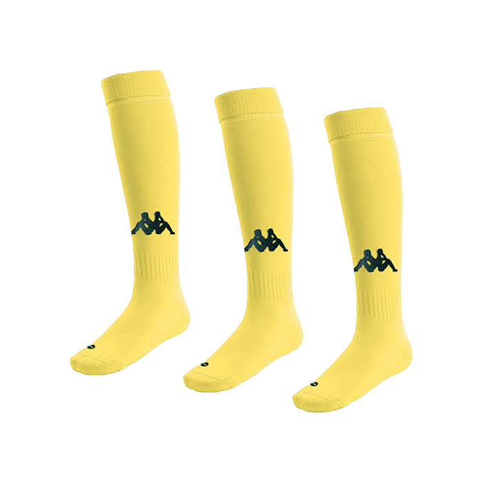 Kappa Penao High Match Socks x 3 - Yellow Fluo/Black