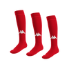 Kappa Penao High Match Socks x 3 - Red