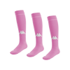 Kappa Penao high match sock in pink with white knitted Omini on the shin