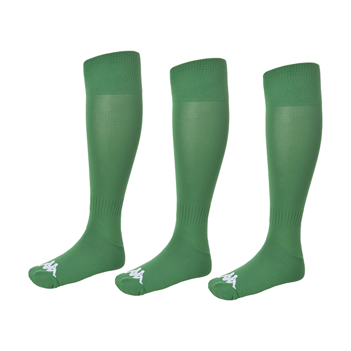 Kappa Lyna sock in green with white Omini on the foot