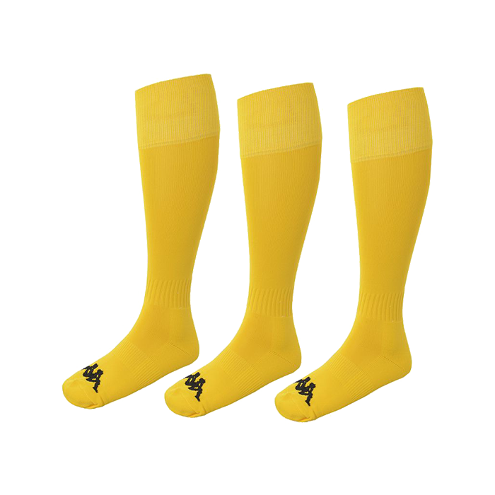 Kappa Lyna sock in yellow with black Omini on the foot