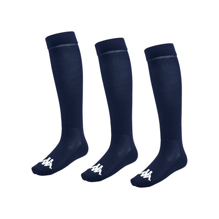 Kappa Lyna sock in blue marine (navy) with white Omini on the foot