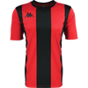 Kappa Caserne match shirt in short sleeve in red and black with black printed Omini printed on the right chest