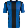 Kappa Caserne match shirt in short sleeve in blue nautic and black with black printed Omini printed on the right chest