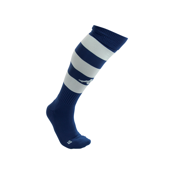 Kappa Lipeno striped sock in blue marine (navy) and white