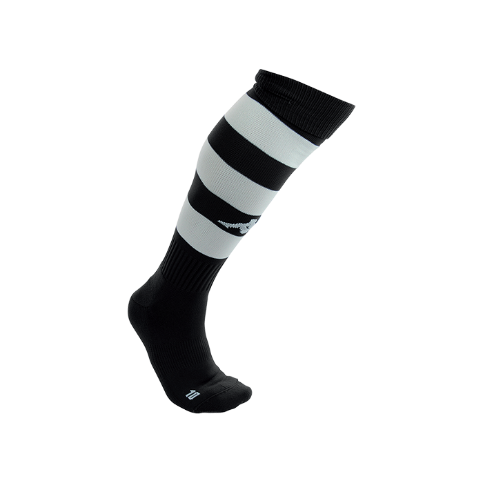 Kappa Lipeno striped sock in black and white