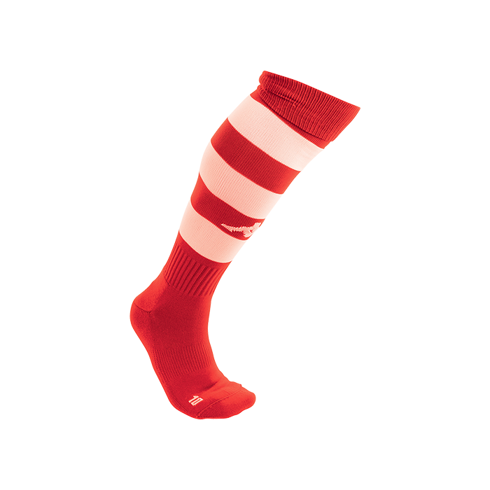 Kappa Lipeno striped sock in red and white