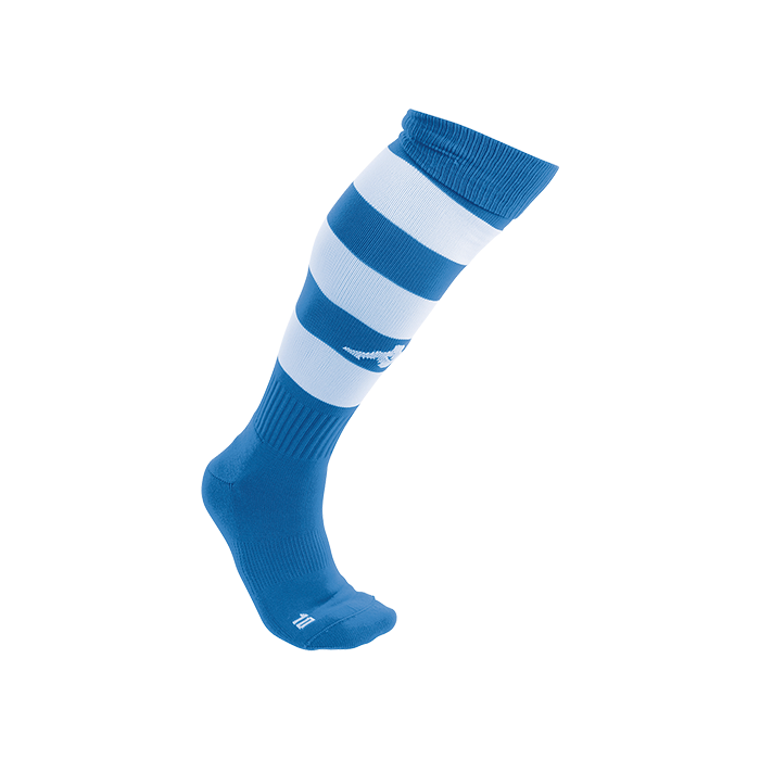 Kappa Lipeno striped sock in blue nautic (royal) and white