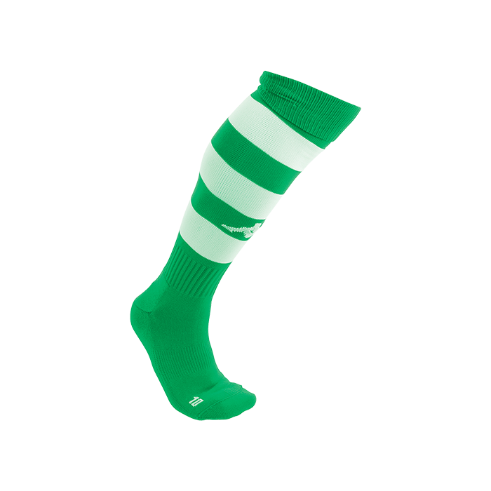 Kappa Lipeno striped sock in green and white