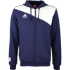 Kappa Pentone jacket in blue marine (navy) with white contrast across shoulders and authentic logo on the chest