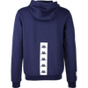 Rear of Kappa Pentone in blue marine (navy) with white Banda print
