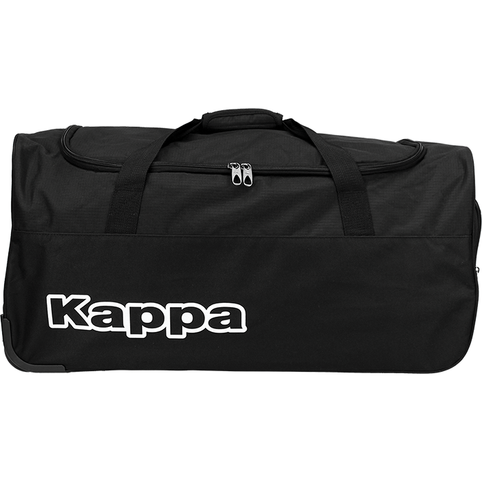 Kappa Tarcisio Trolley Bag in black with white Kappa lettering print