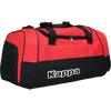 Kappa Brenno sport bag in black and red with white Kappa print.