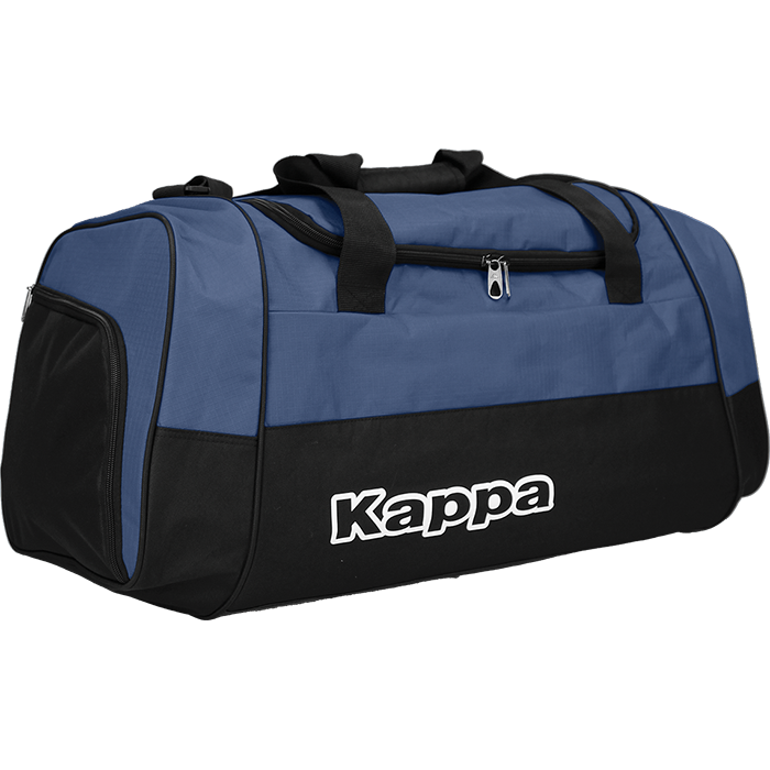 Kappa Brenno sport bag in blue marine (navy) with white Kappa print.