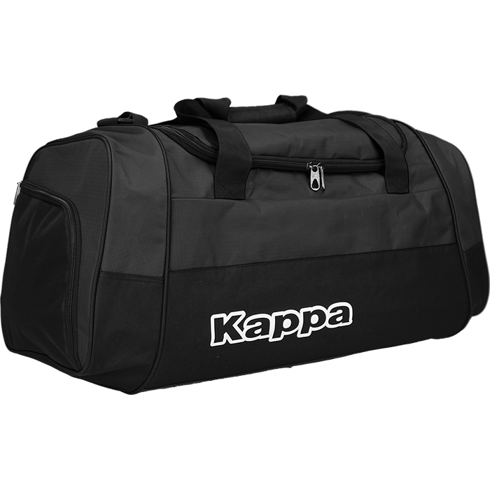Kappa Brenno bag in black with white Kappa print.