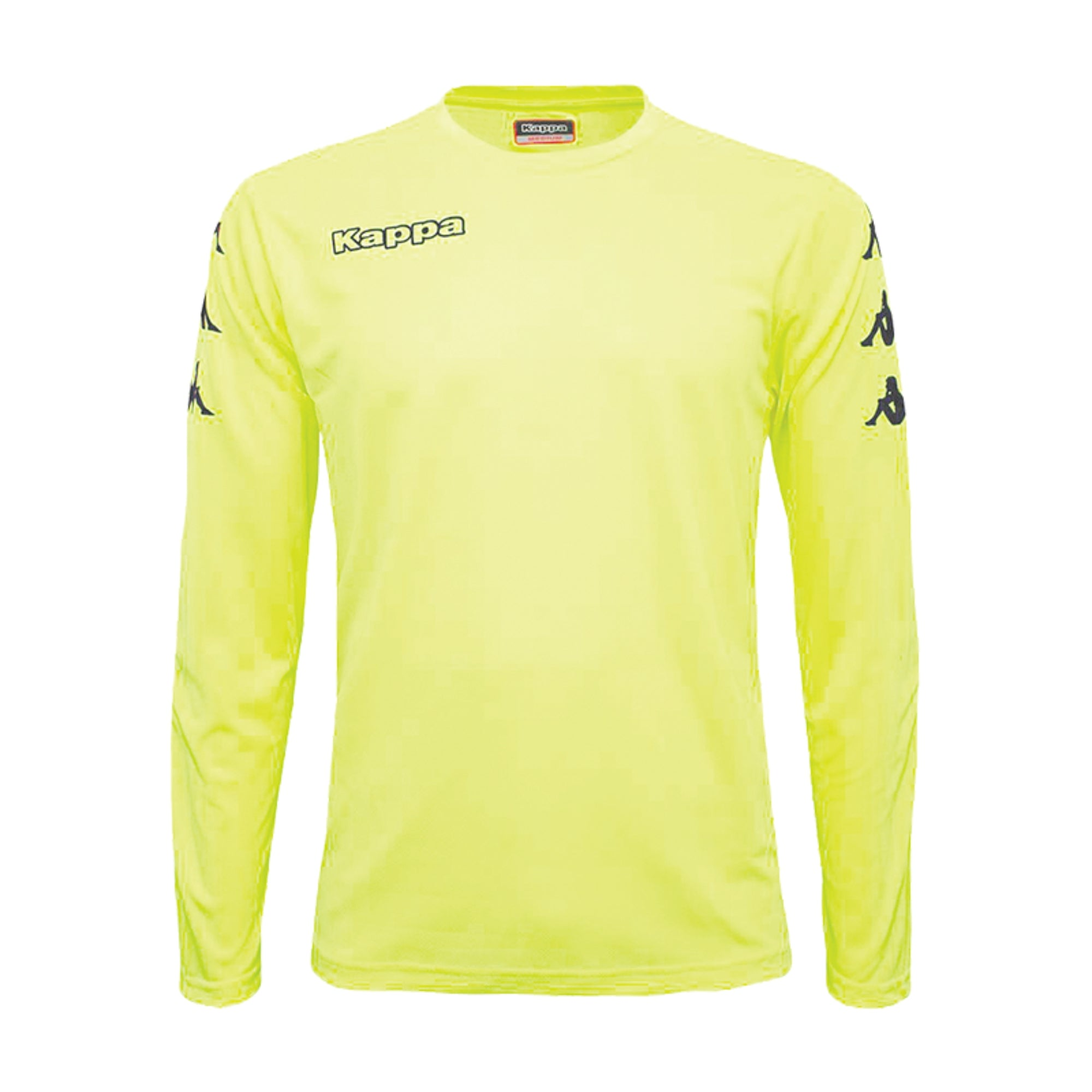 Kappa goalkeeper shirt in yellow fluo with black printed Omini banda on the sleeves