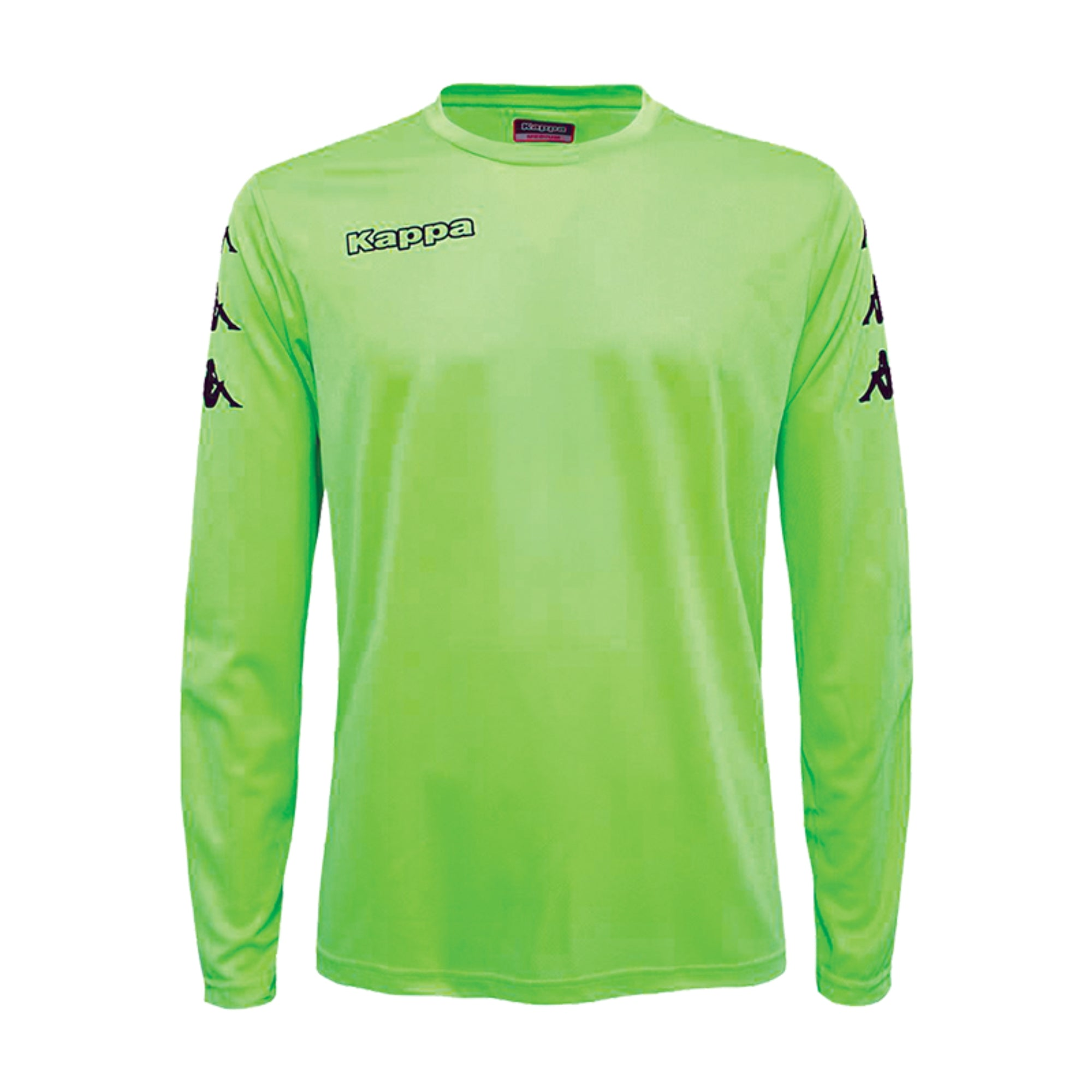 Kappa goalkeeper shirt in green fluo with black printed Omini banda on the sleeves