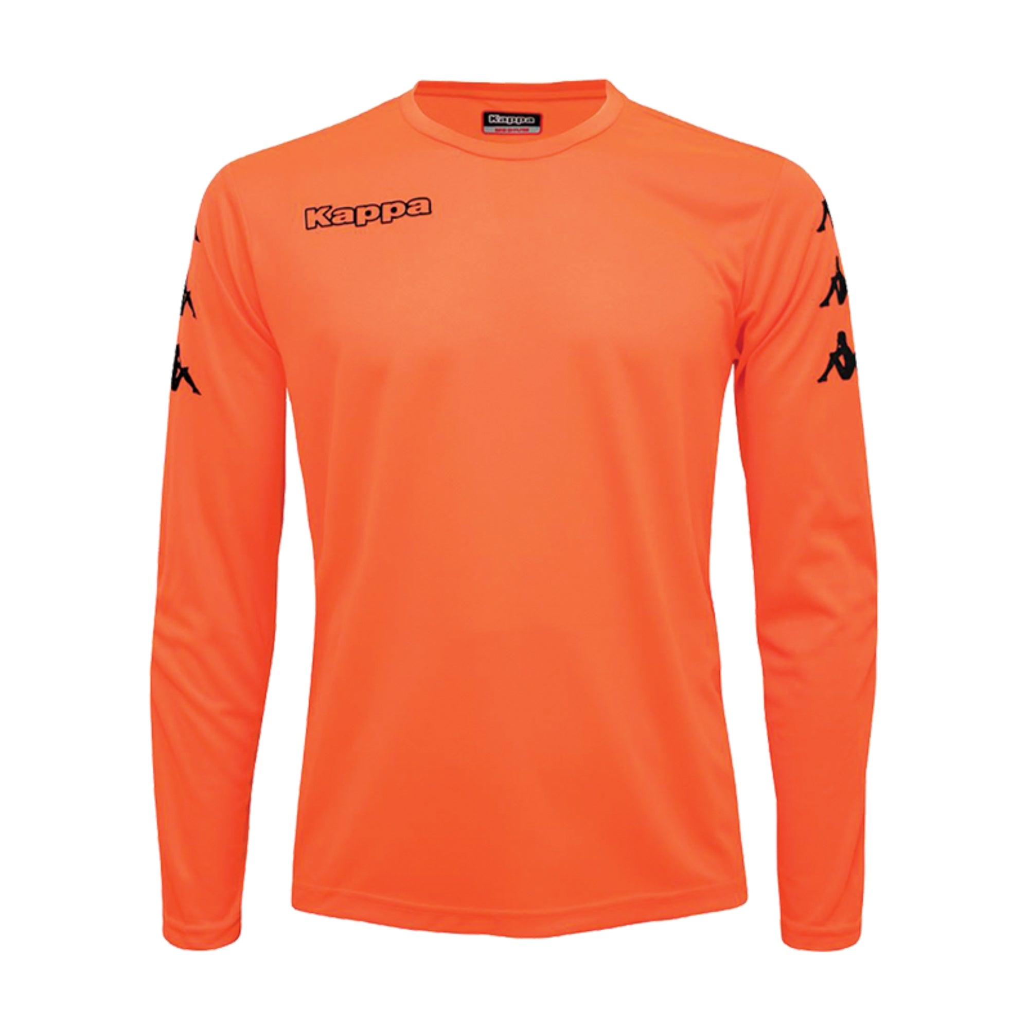 Kappa goalkeeper shirt in red fluo with black printed Omini banda on the sleeves