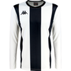 Kappa Caserne Long sleeve striped shirt in white and black