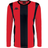 Kappa Caserne Long sleeve striped shirt in red and black