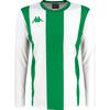 Kappa Caserne Long sleeve striped shirt in white and green