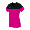 Kappa Mareta short sleeved shirt in fuchsia with black contrast shoulders