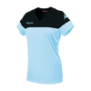Kappa Mareta short sleeved shirt in blue light (sky blue) with black contrast shoulders