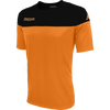 Kappa Mareto short sleeve shirt in orange and black contrast shoulders and printed Kappa lettering on the chest