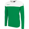 Kappa mareto long sleeve shirt in green and white
