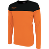 Kappa mareto long sleeve shirt in orange and black