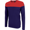 Kappa mareto long sleeve shirt in blue marine (navy) and red