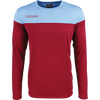 Kappa mareto long sleeve shirt in red scarlet and blue light