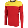 Kappa mareto long sleeve shirt in red and yellow