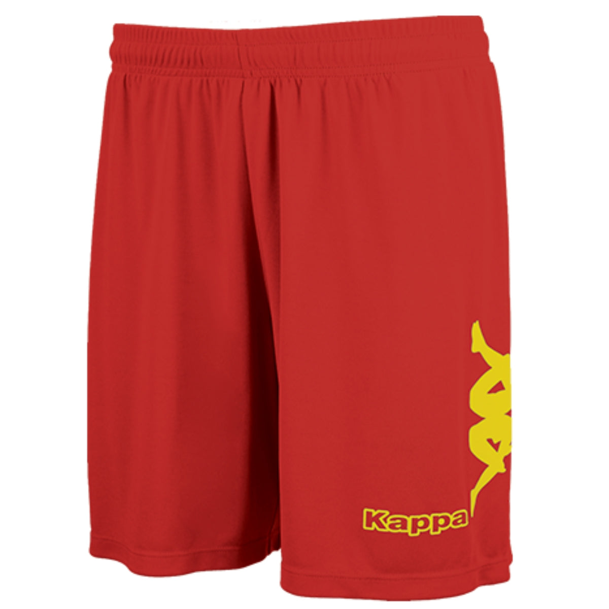 Kappa Talbino short in red with yellow Omini printed on the leg