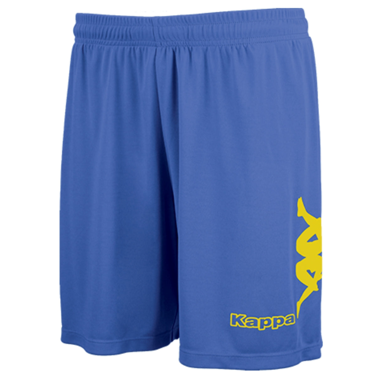 Kappa Talbino short in blue nautic with yellow Omini printed on the leg