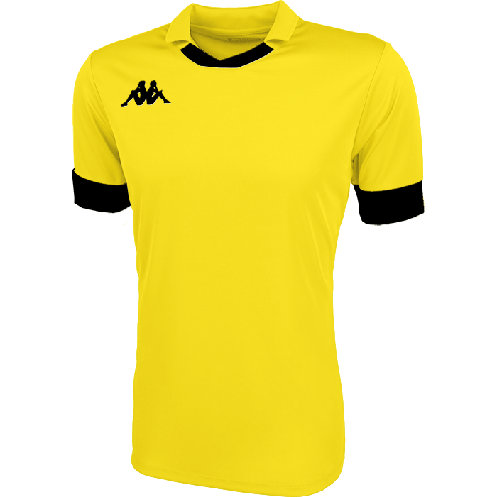 Kappa Tranio Match Shirt SS - Yellow/Black