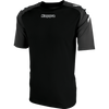 Kappa Paderno Match Shirt SS - Black/Dark Grey