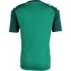 rear of Kappa paderno shirt in green with contrast raglan sleeve in Green Galapagos